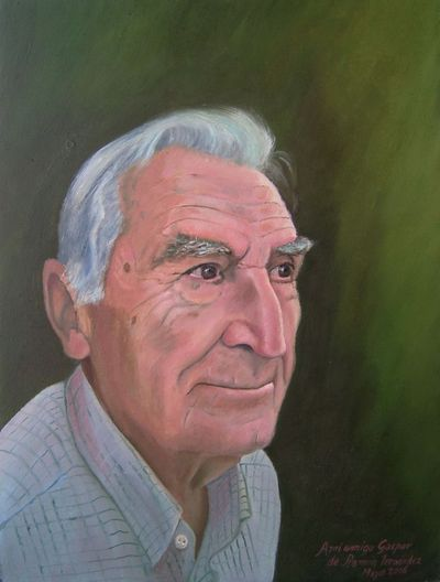 Gaspar Peral Baeza en retrato de Ramón Fernández Palmeral