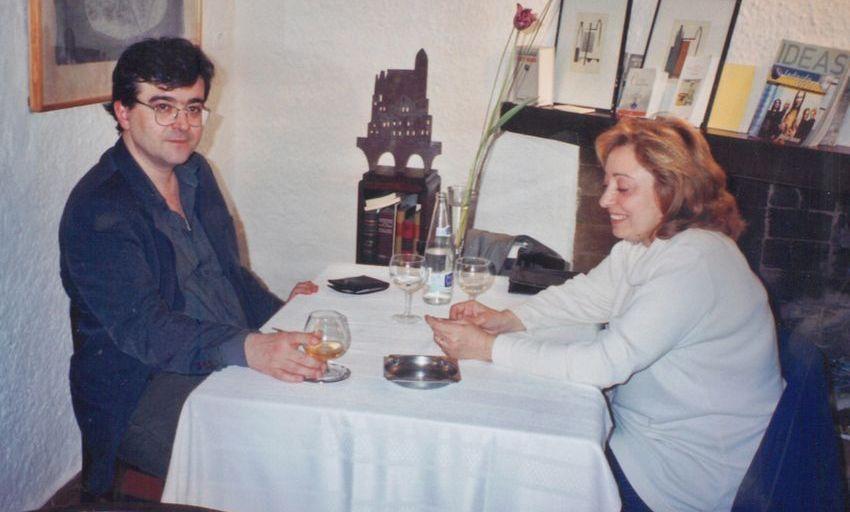 Javier Cercas y Efi Cubero