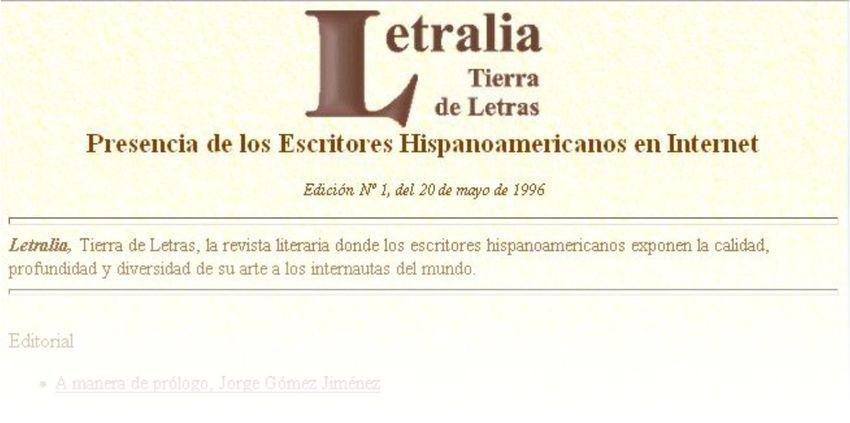 Veinte años de Letralia, Tierra de Letras, la revista de los escritores de habla hispana