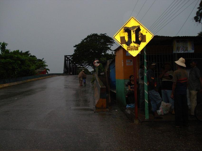 Carretera después de un aguacero