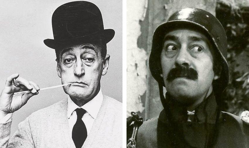 A la izquierda, el comediante italiano Totò (1898-1967). A la derecha, el argentino Alberto Olmedo (1933-1988)