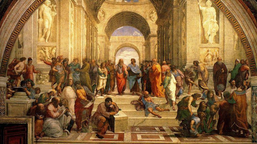 """""""La escuela de Atenas"""", de Rafael"""
