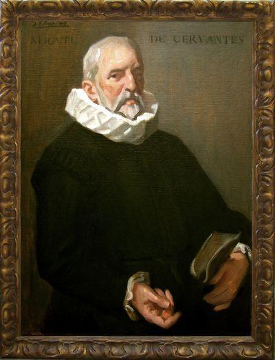 Retrato de Miguel de Cervantes por Alejandro Cabeza