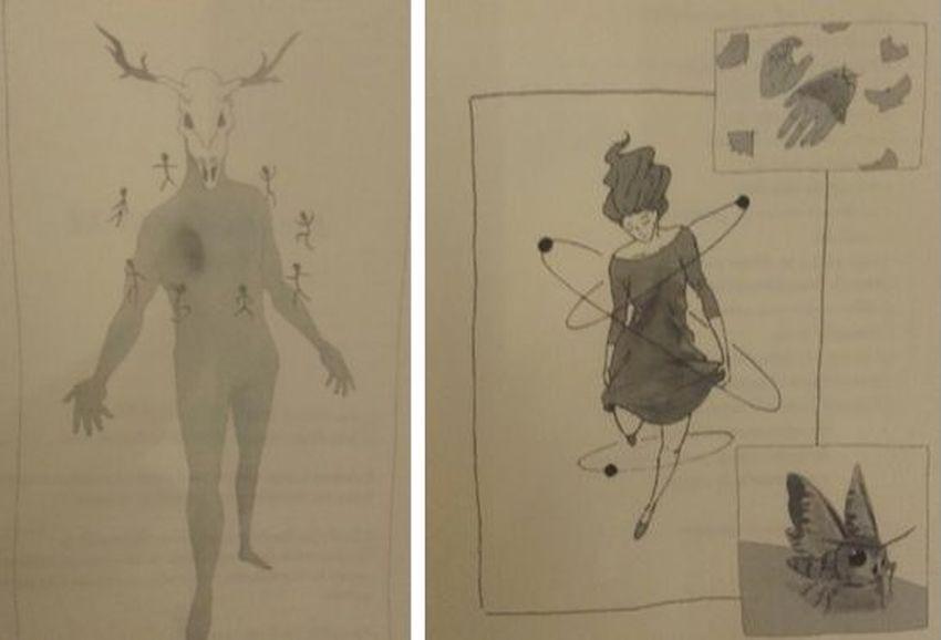 """Ilustraciones de Ángel Moreno para """"El taxidermista"""", de Eva Gallud"""