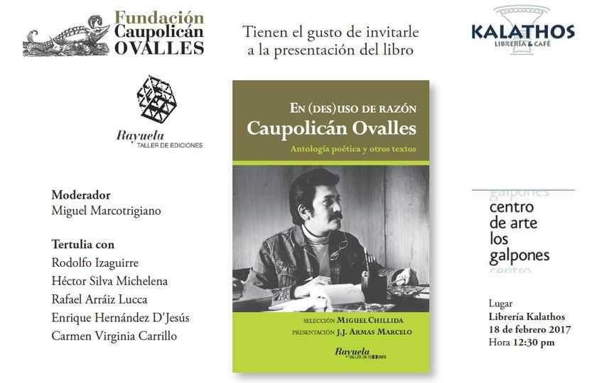 """""""En (des)uso de razón"""", antología de textos de Caupolicán Ovalles"""