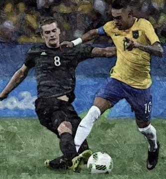 Final del fútbol en los Juegos Olímpicos de 2016 en Río de Janeiro entre las selecciones de Brasil y Alemania