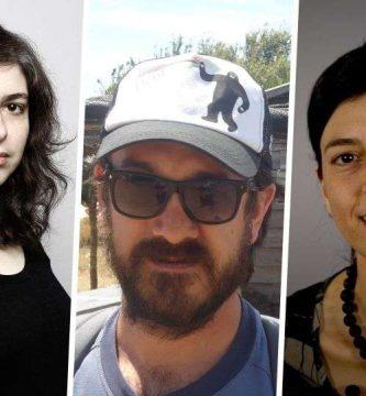 Mariana Enríquez, Luciano Lamberti y Samanta Schweblin