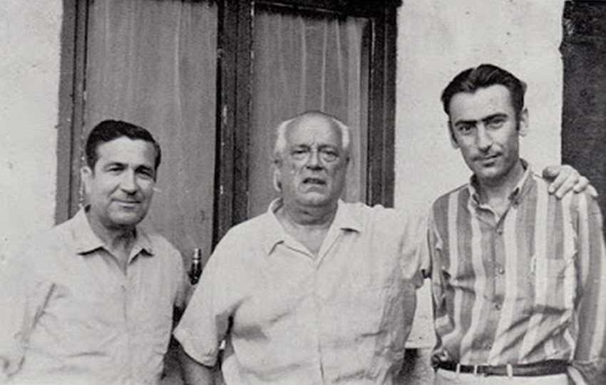 Manuel Molina, Rafael Alberti y Carlos Sahagún