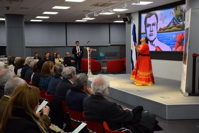 Homenaje a Rubén Darío en la Embajada de Nicaragua en España