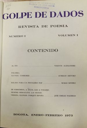 "Revista ""Golpe de Dados"""