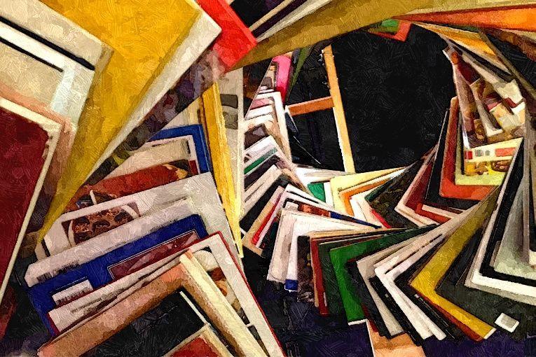 """Swirl of books"", de Judit Klein (2013)"