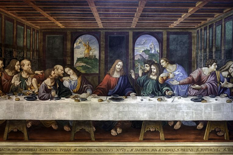 """""""La última cena"""" (1495-1498), por Leonardo da Vinci"""