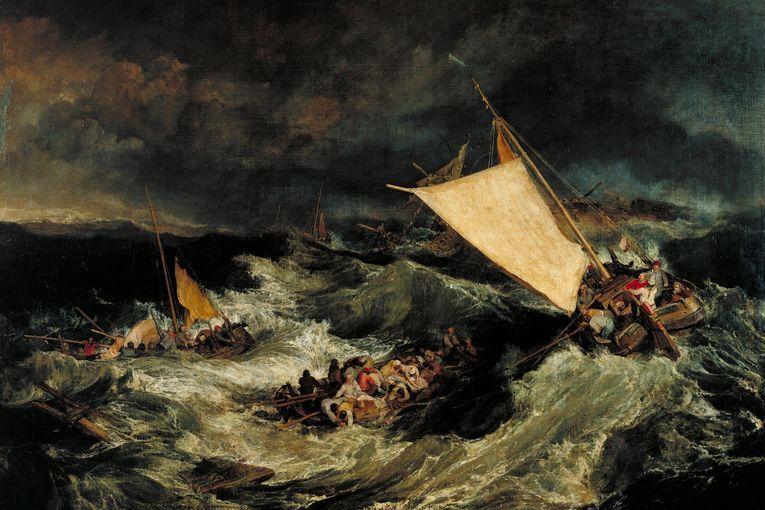 """El naufragio"", de William Turner (1805)"