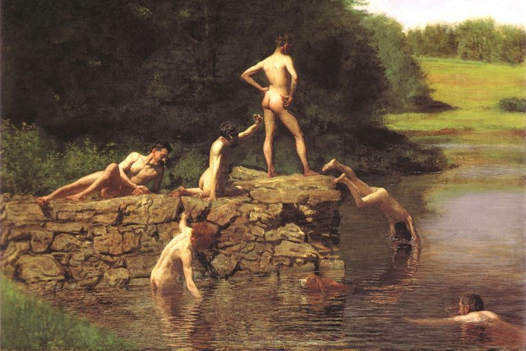 """""""Swimming Hole"""" (1885), de Thomas Eakins"""