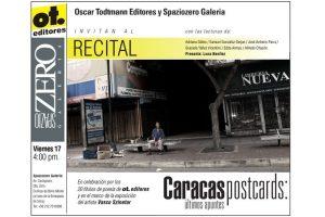 """Caracas postcards"", exposición de Vasco Szinetar en Spaziozero Galería (Caracas)."