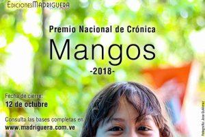 """Premio Nacional de Crónica """"Mangos"""" 2018"""