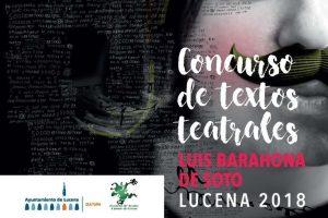 "Concurso de Textos Teatrales ""Luis Barahona de Soto"" Lucena 2018"