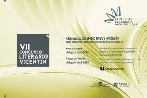 """VII Concurso Literario """"Vicentín"""" de Relato Breve y Poesía 2018"""