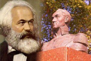 Carlos Marx y Simón Bolívar