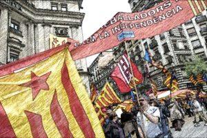 Manifestación separatista en Cataluña