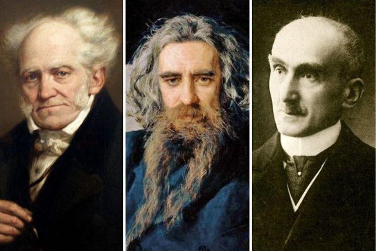 Arthur Schopenhauer, Wladimir Soloviev y Henri Bergson