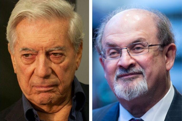 Mario Vargas Llosa y Salman Rushdie
