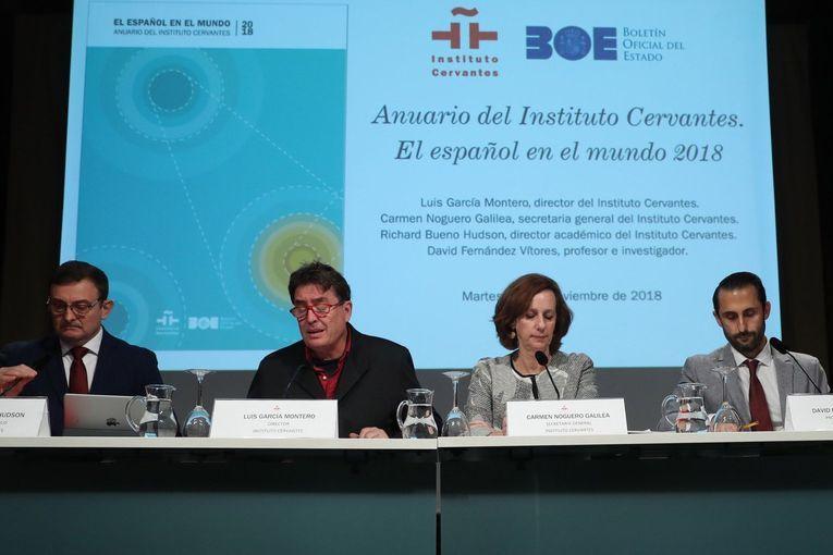 """Presentación del informe """"El español en el mundo 2018"""", del Instituto Cervantes"""