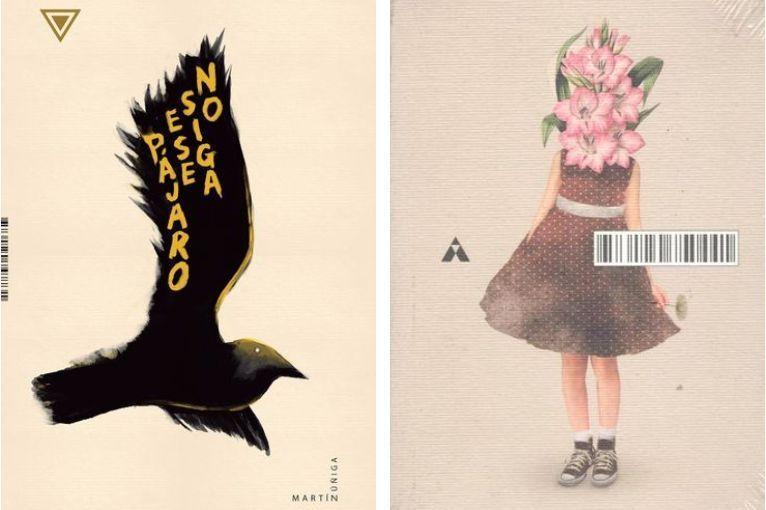"""""""No siga ese pájaro"""", de Martín Zúñiga, y """"Objects in mirror are closer than they appear"""", de Javier Rivera"""