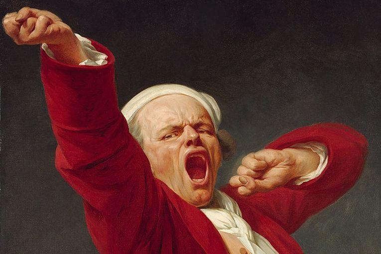 """""""Autorretrato: Bostezando"""" (detalle), por Joseph Ducreux (1735-1802)"""