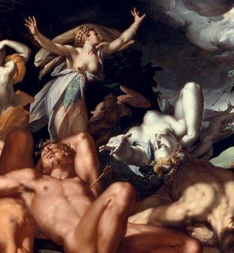 La muerte de los hijos de Níobe (1591), por Abraham Bloemaert