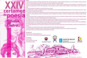 """XXIV Certamen de Poesía """"Rosalía de Castro"""""""