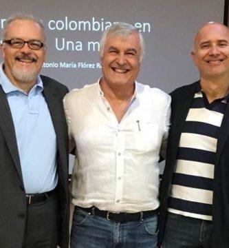 Orlando Mejía, Antonio María Flórez y Octavio Escobar Giraldo