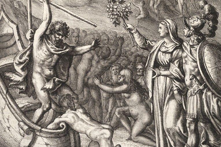 """""""Eneas y Caronte"""" (circa 1654), de Wenceslaus Hollar"""