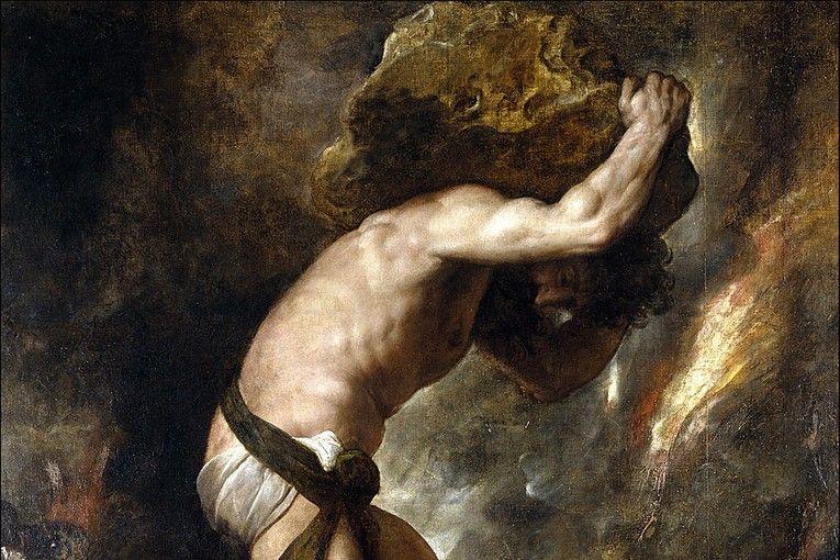 """Sísifo"" (1548-1549), por Tiziano"