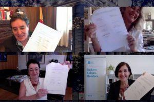 Luis García Montero, Iolanda Batallé, Rosario Álvarez e Irene Larraza