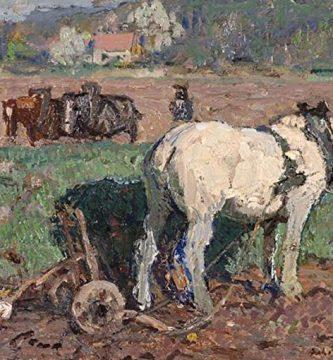 """Agricultor con arado"" (1913), de Julius Paul Junghanns (1876-1958)"