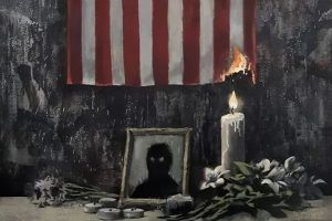 Banksy sobre el asesinato de George Floyd