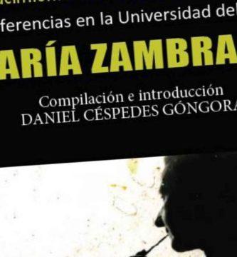 """""""El nacimiento de la conciencia histórica: conferencias en la Universidad del Aire por María Zambrano"""", compilación de Daniel Céspedes Góngora"""