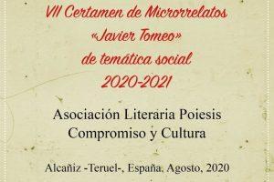 "VII Certamen de Microrrelatos ""Javier Tomeo"" de Temática Social 2020-2021"