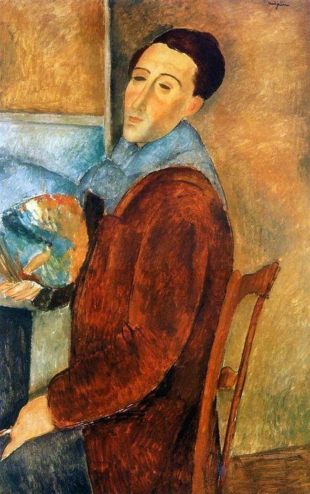Autorretrato de Amedeo Modigliani (1919)