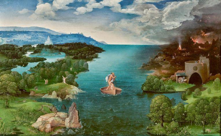 Caronte atravesando la laguna Estigia, de Joachim Patinir