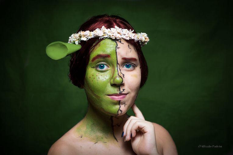 Padrón realizó una serie de retratos con su hija Valeria, quien tiene un especial talento por el maquillaje de caracterización