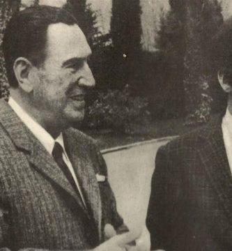 Juan Domingo Perón y Tomás Eloy Martínez