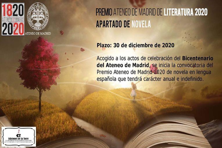 Premio Ateneo de Madrid de Literatura 2020, apartado de Novela