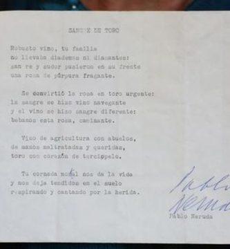 """Sangre de Toro"", de Pablo Neruda"