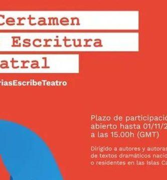 I Certamen de Escritura Teatral #Canariasescribeteatro
