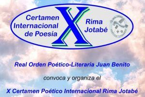 X Certamen Poético Internacional Rima Jotabé