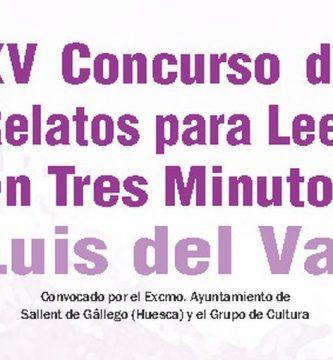 """XV Concurso de Relatos para Leer en Tres Minutos """"Luis del Val"""""""