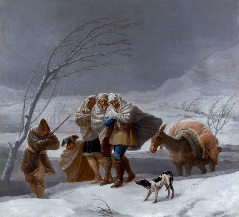 """""""La nevada (o El invierno)"""" (1786), de Francisco de Goya"""