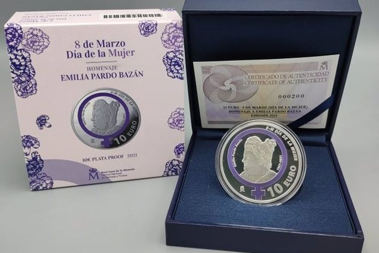 Moneda conmemorativa en homenaje a Emilia Pardo Bazán